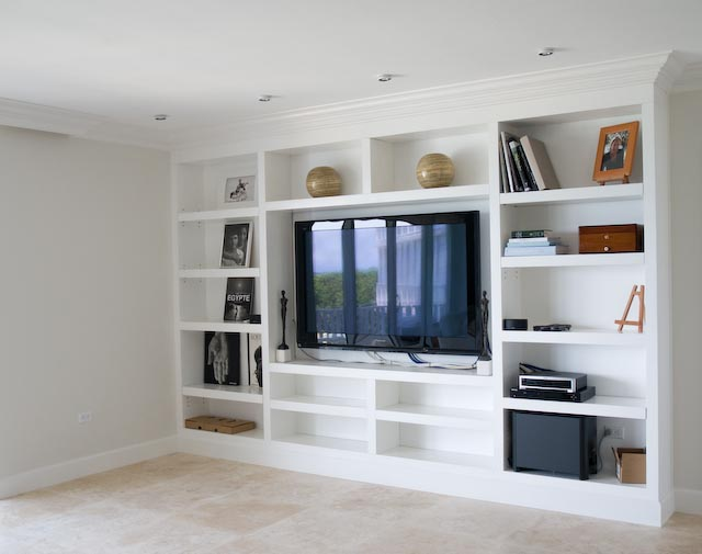 Custom Cabinets Entertainment Center with Modern Design Cabinetry
