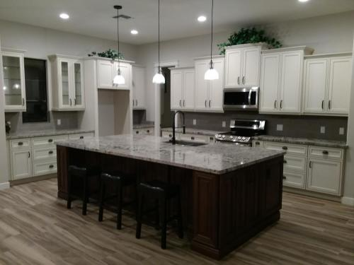 White Kitchen Cabinets & Stainless Steel Appliances